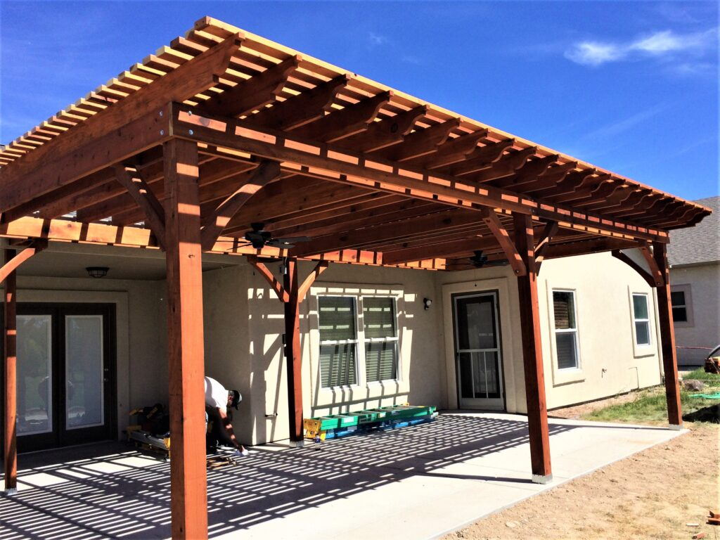 Screened Pergola Before